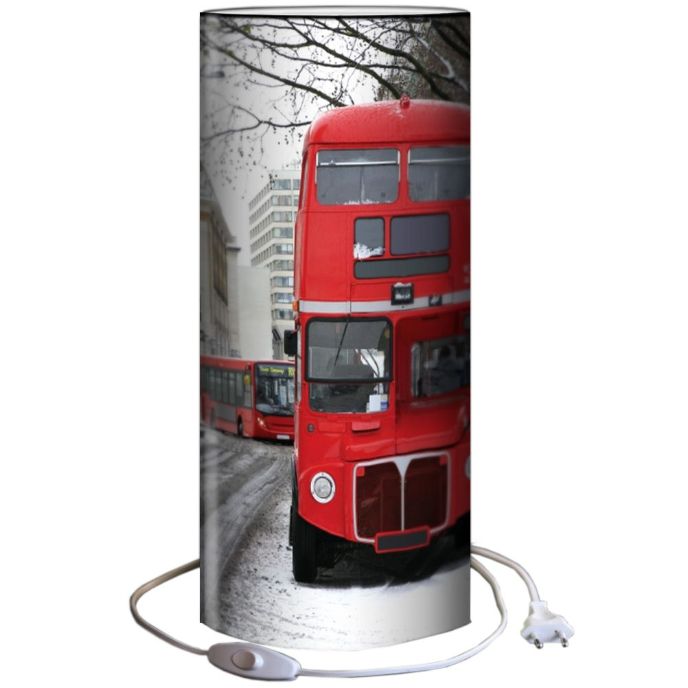Lampe d coration luminaire chevet design london bus 40 cm for Lampe de bureau london
