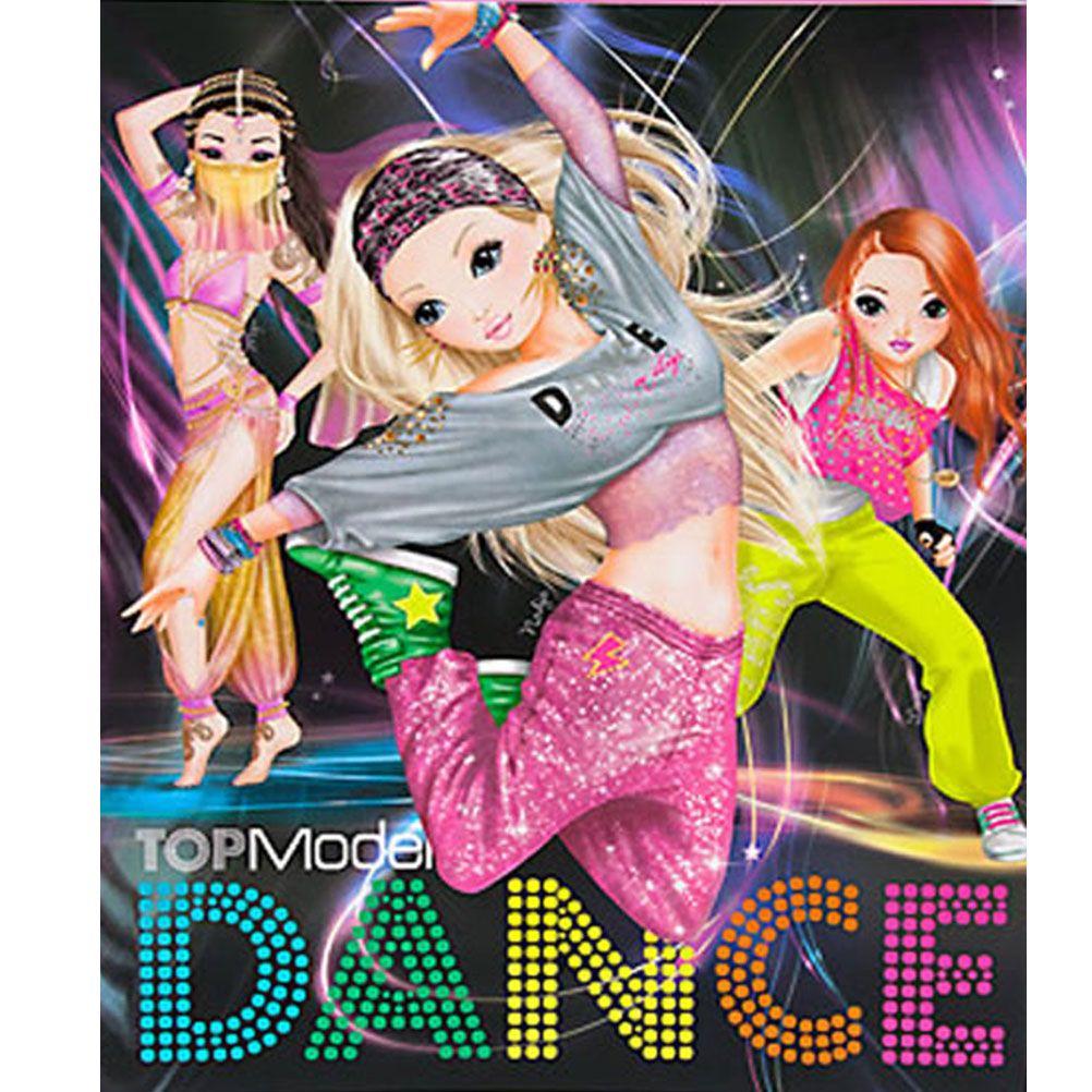 Album coloriage dance top model noir - Top model livre de dessin ...
