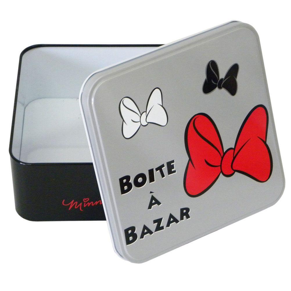 petite boite m tal minnie mouse la boite bazar. Black Bedroom Furniture Sets. Home Design Ideas