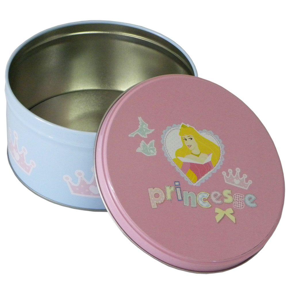 Petite boite ronde en m tal disney princesses aurore - Petite boite en metal ...