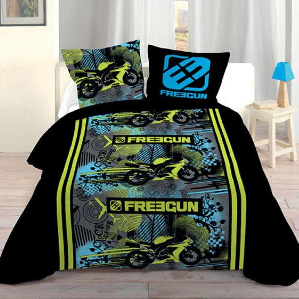 parure de lit freegun vroom 140 x 200 cm. Black Bedroom Furniture Sets. Home Design Ideas