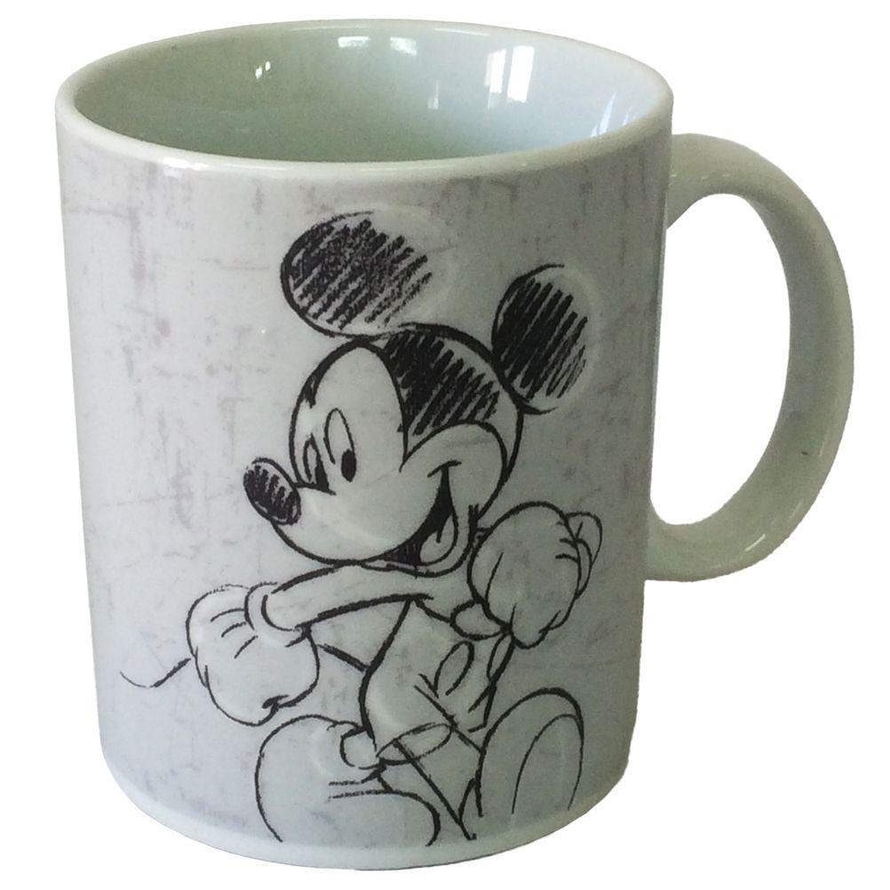mug mickey mouse disney dessin au fusain. Black Bedroom Furniture Sets. Home Design Ideas