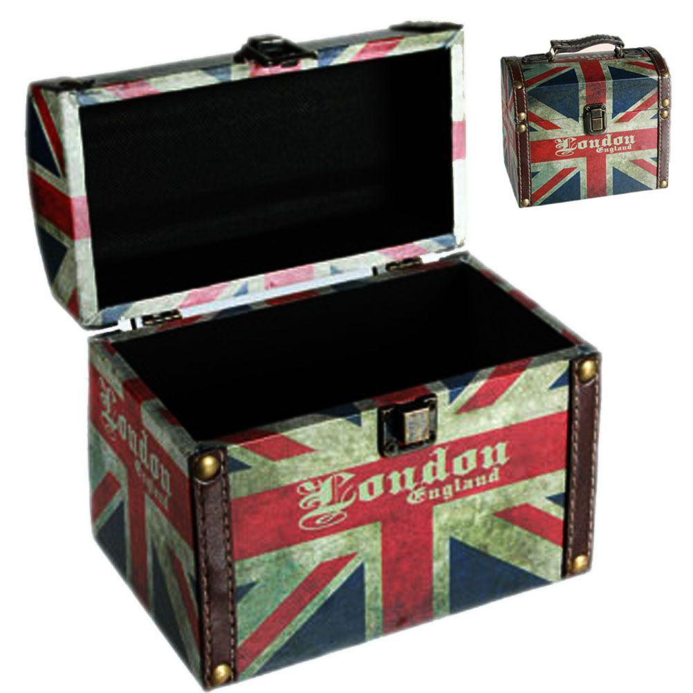 Coffre vintage london england for Deco boite de nuit