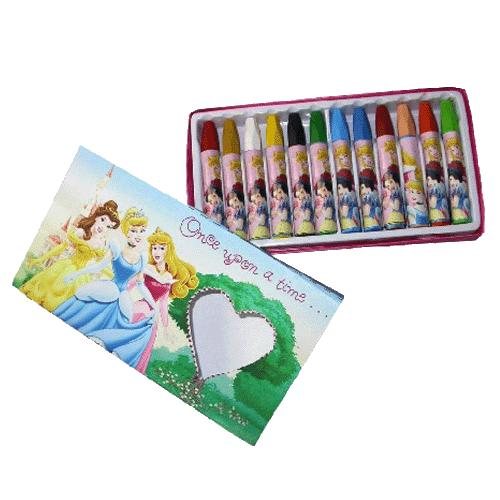 boite de 12 crayons de cire disney princesses. Black Bedroom Furniture Sets. Home Design Ideas