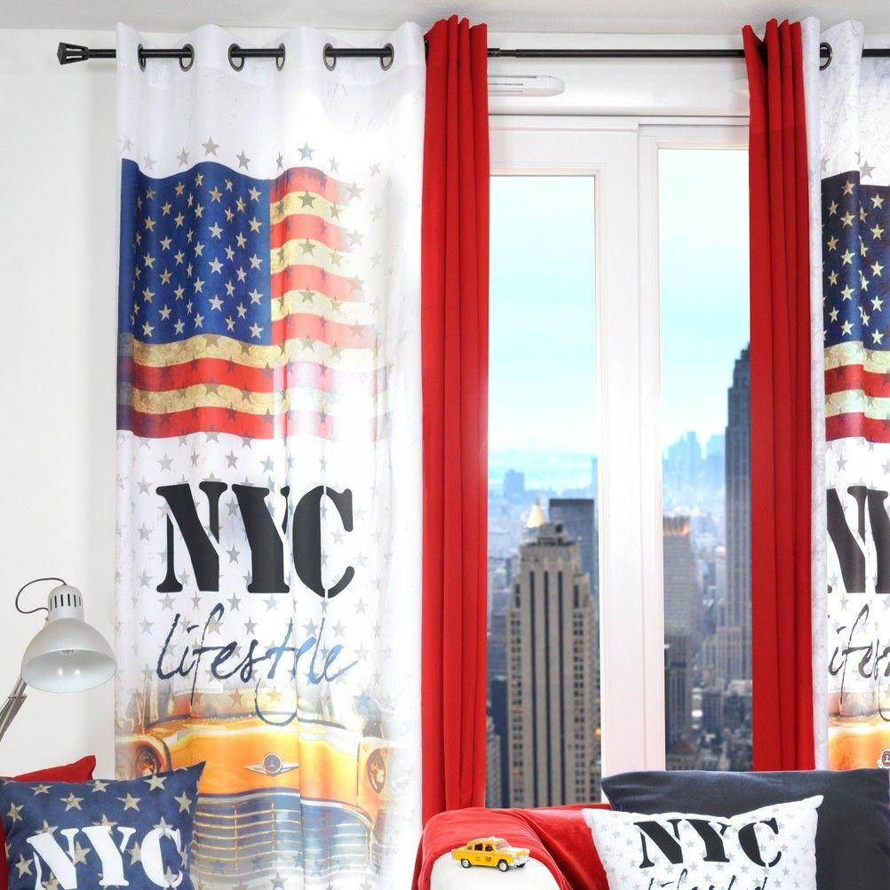 rideau oeillets new york lifestyle. Black Bedroom Furniture Sets. Home Design Ideas