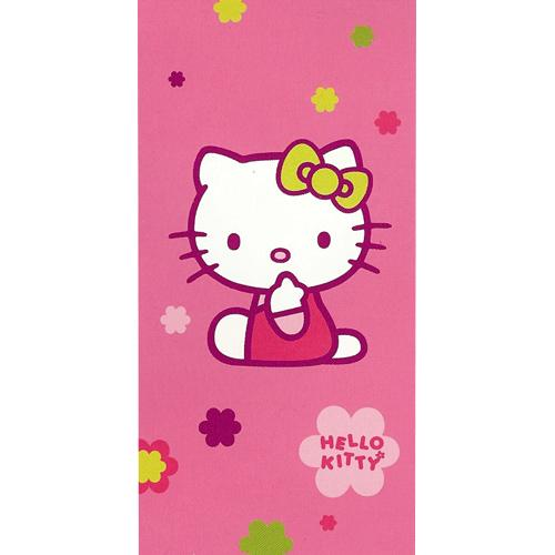 Serviette bain plage drap toilette Hello Kitty Play cadeau enfant fille