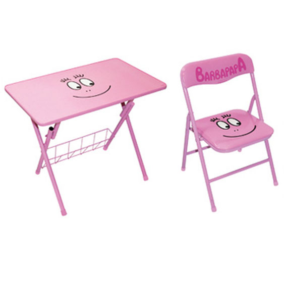 ensemble table d 39 activit et chaise pliante enfant barbapapa. Black Bedroom Furniture Sets. Home Design Ideas