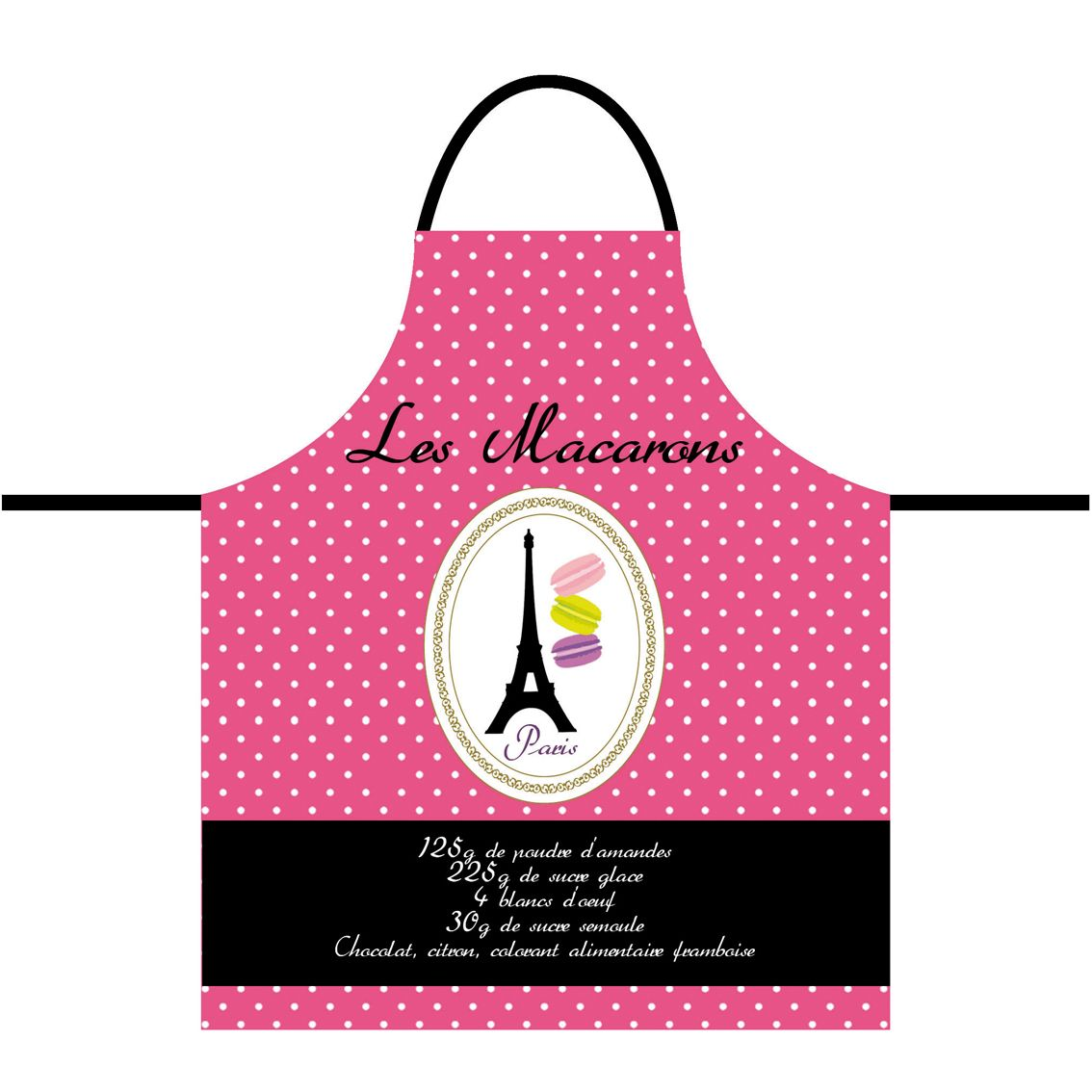 Tablier de cuisine pour adulte macarons de paris for Tablier de cuisine paris