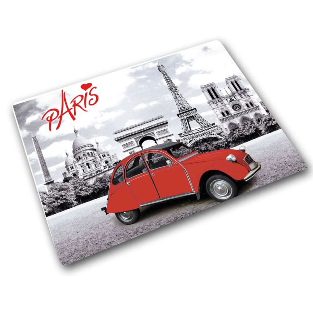 planche d couper en verre 2 cv i love paris. Black Bedroom Furniture Sets. Home Design Ideas