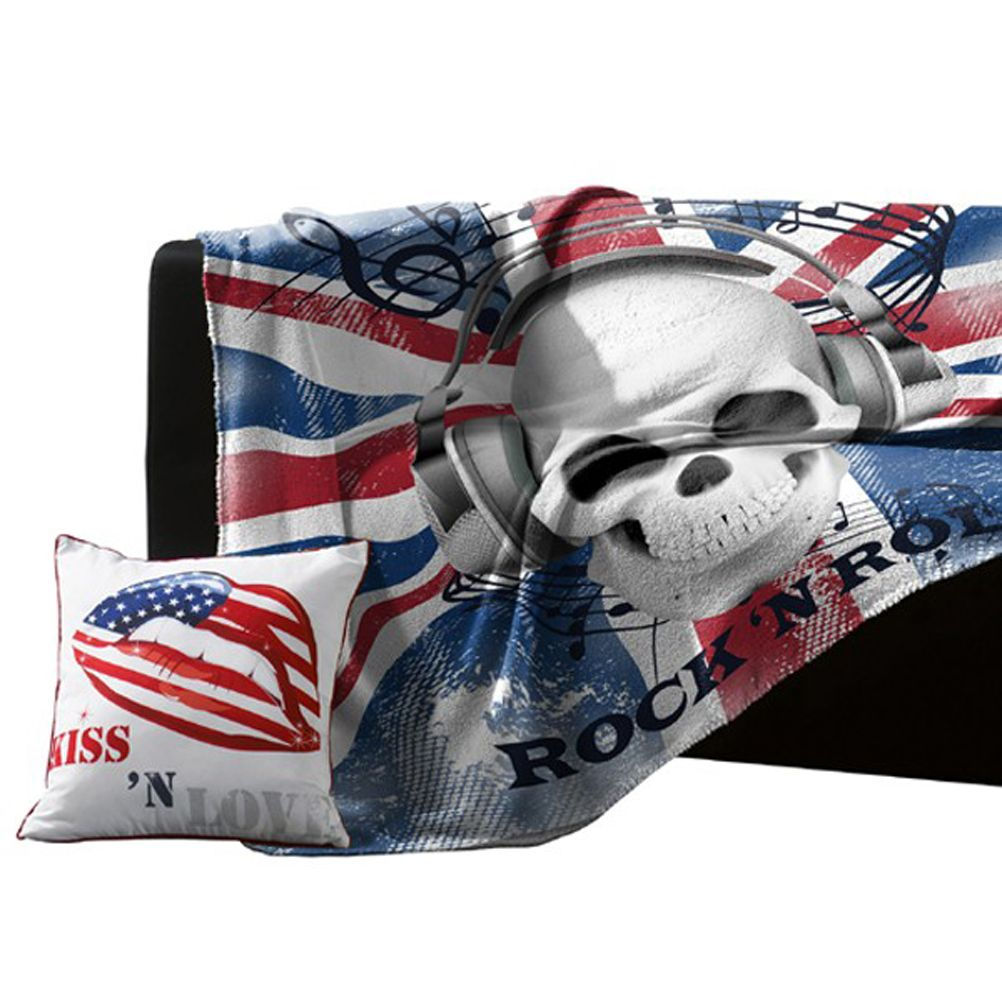 plaid polaire union jack rock 39 n roll. Black Bedroom Furniture Sets. Home Design Ideas