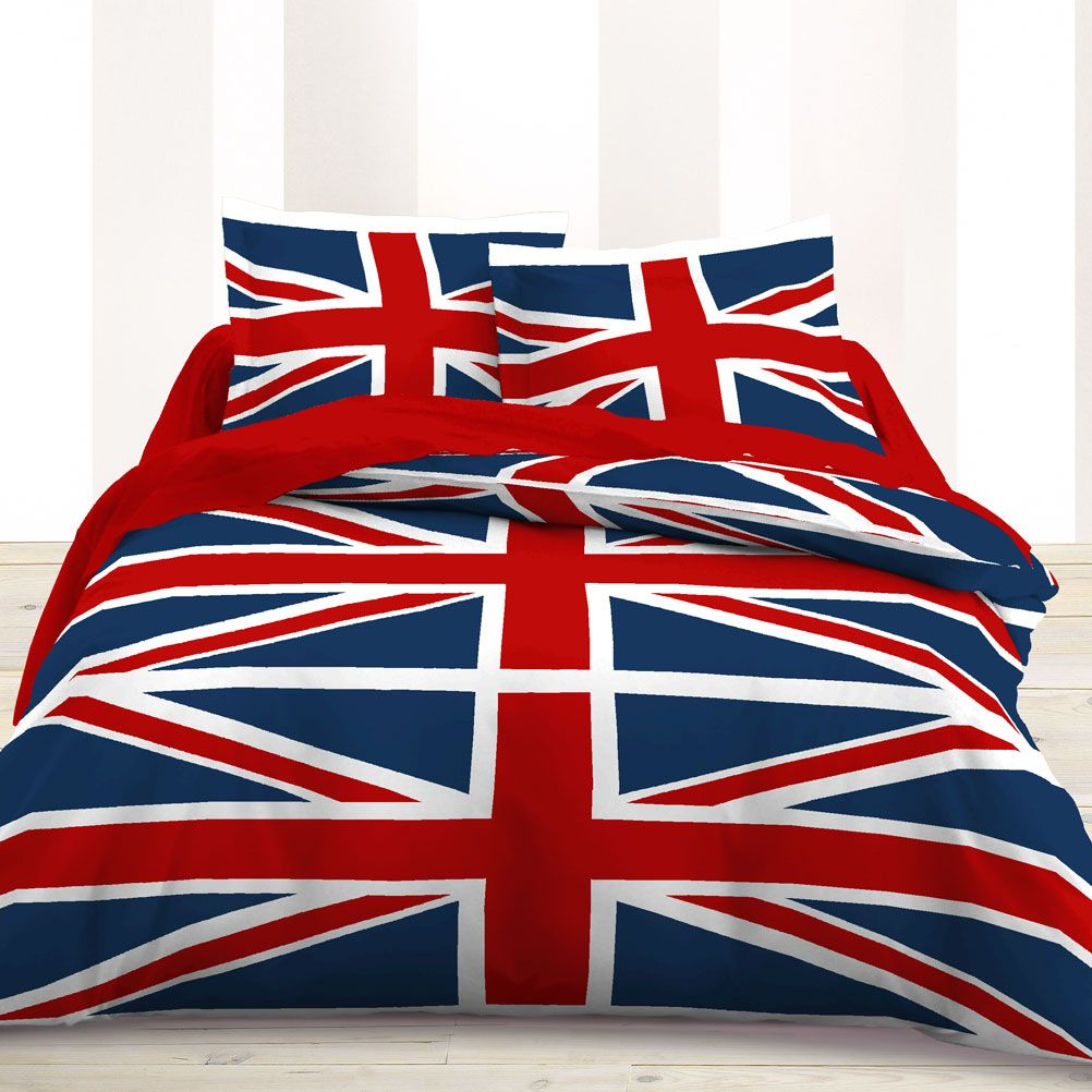 55 housse de couette union jack union jack housse de couette 200 200 comparer 23 offres. Black Bedroom Furniture Sets. Home Design Ideas