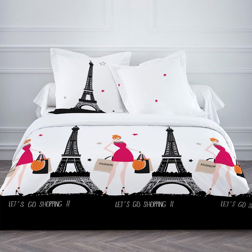 parure de lit paris let 39 s go shopping 220 x 240 cm. Black Bedroom Furniture Sets. Home Design Ideas