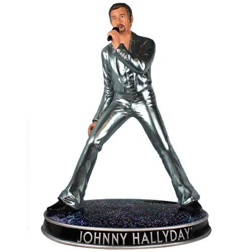 figurine de collection en r sine johnny hallyday 44 cm. Black Bedroom Furniture Sets. Home Design Ideas