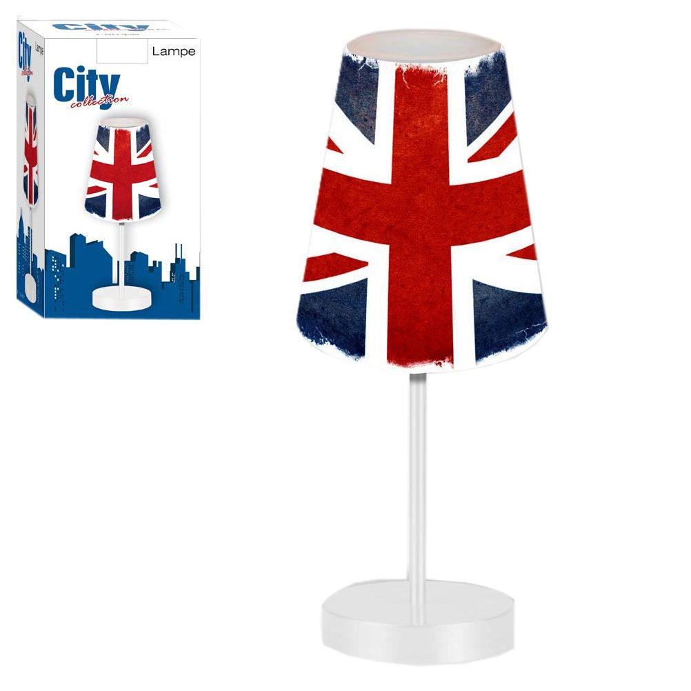 Petite lampe de chevet london union jack vintage for Lampe de chevet london