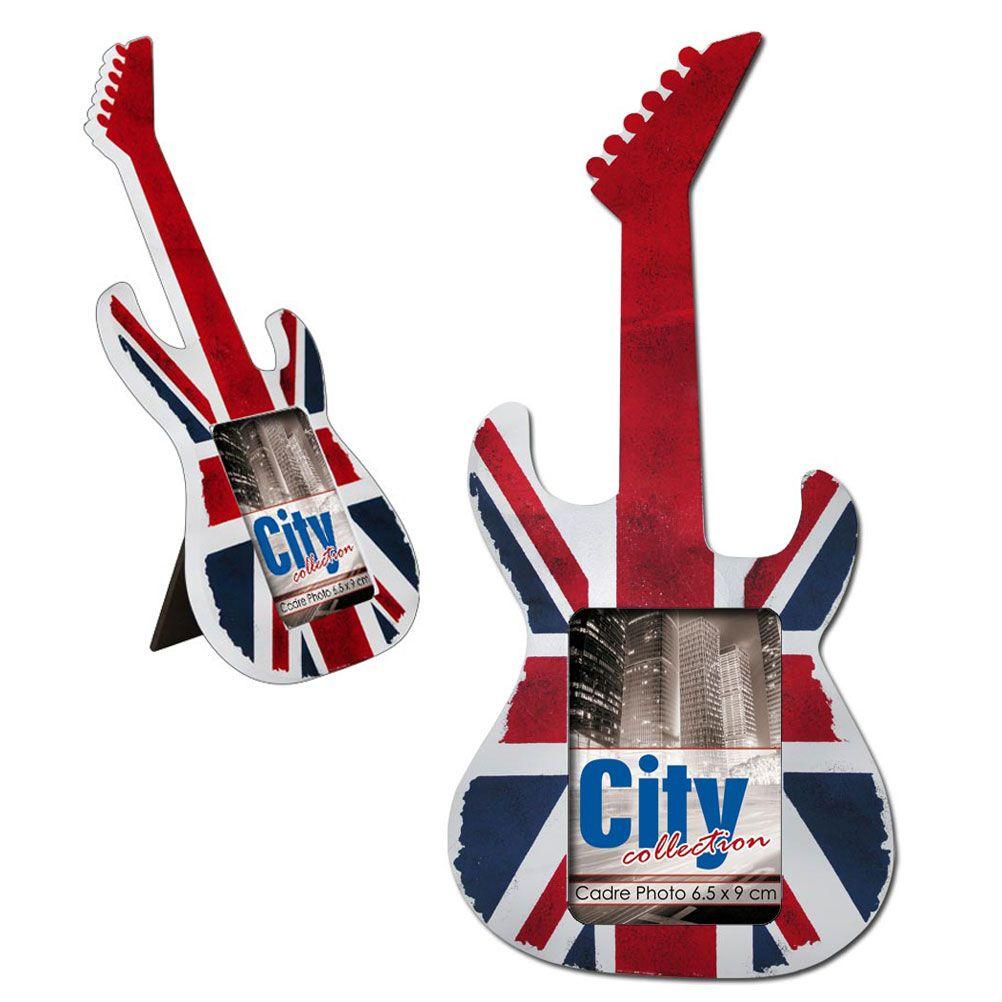 petit cadre photo london guitare union jack. Black Bedroom Furniture Sets. Home Design Ideas