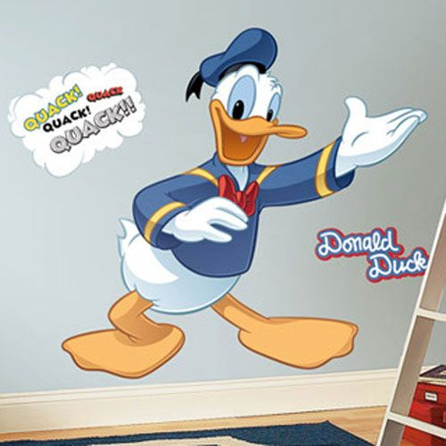 Grands stickers muraux repositionnables donald - Stickers muraux repositionnables ...