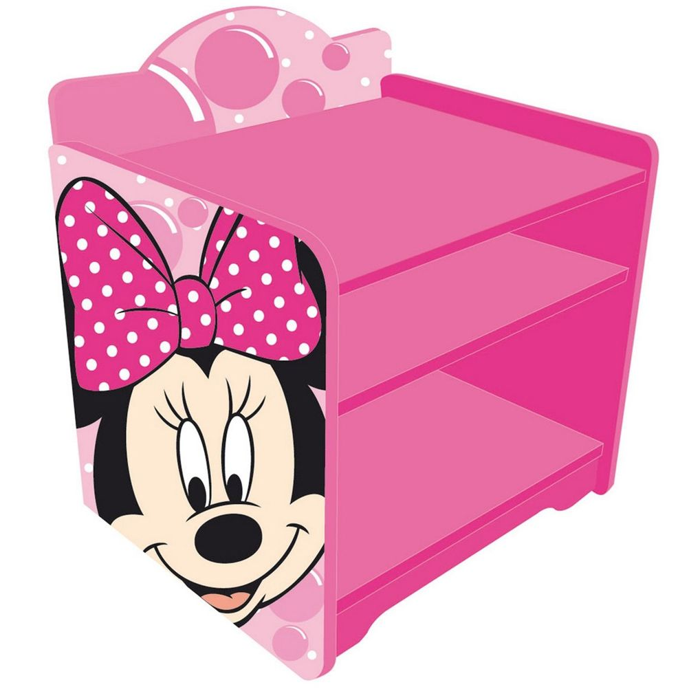 table de chevet en bois disney minnie mouse