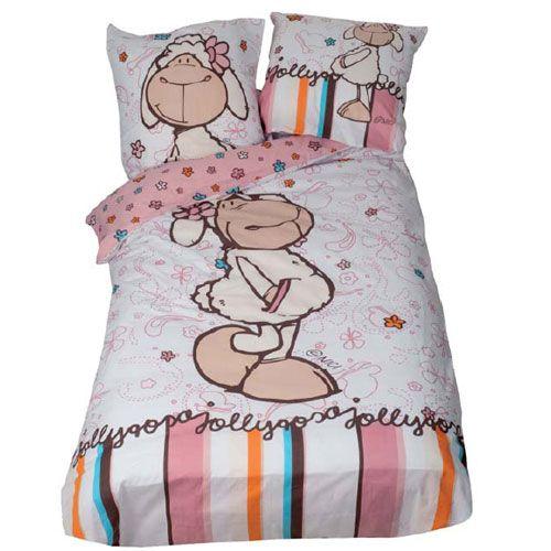 parure de lit nici mouton. Black Bedroom Furniture Sets. Home Design Ideas
