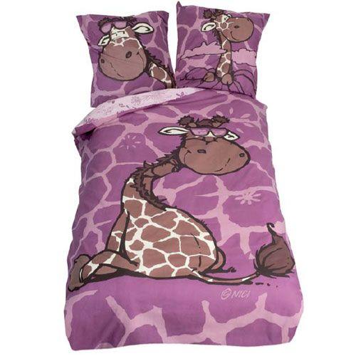 parure de lit nici girafe. Black Bedroom Furniture Sets. Home Design Ideas