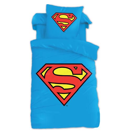 parure de lit superman logo. Black Bedroom Furniture Sets. Home Design Ideas