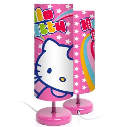 lampe decoration luminaires chevet chambre lit fille hello kitty. Black Bedroom Furniture Sets. Home Design Ideas