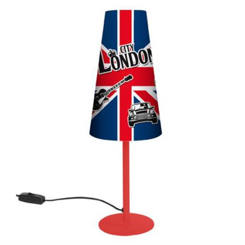 Lampe decoration luminaires chevet chambre london city for Lampe de bureau london