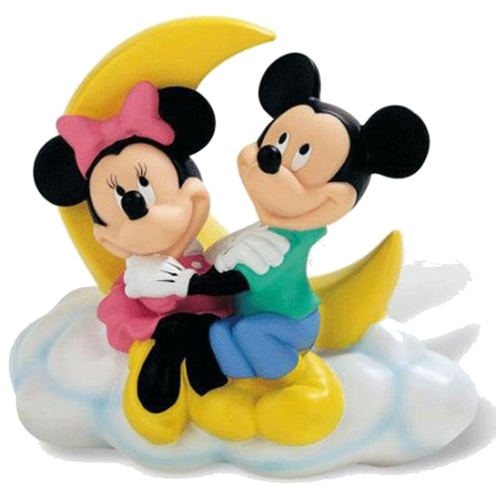 tirelire pvc minnie et mickey mouse amoureux sur la lune pictures. Black Bedroom Furniture Sets. Home Design Ideas