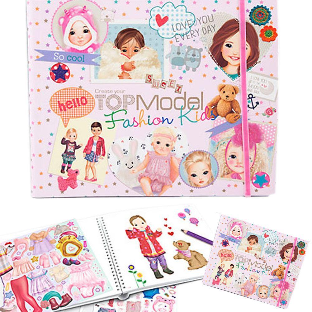 Album coloriage create your top model fashion kids - Top model livre de dessin ...