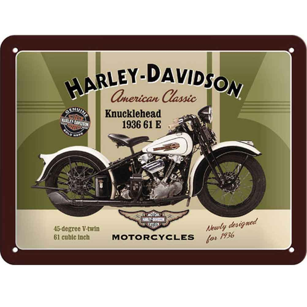 plaque d corative harley davidson american classic en m tal 20 x 15 cm. Black Bedroom Furniture Sets. Home Design Ideas