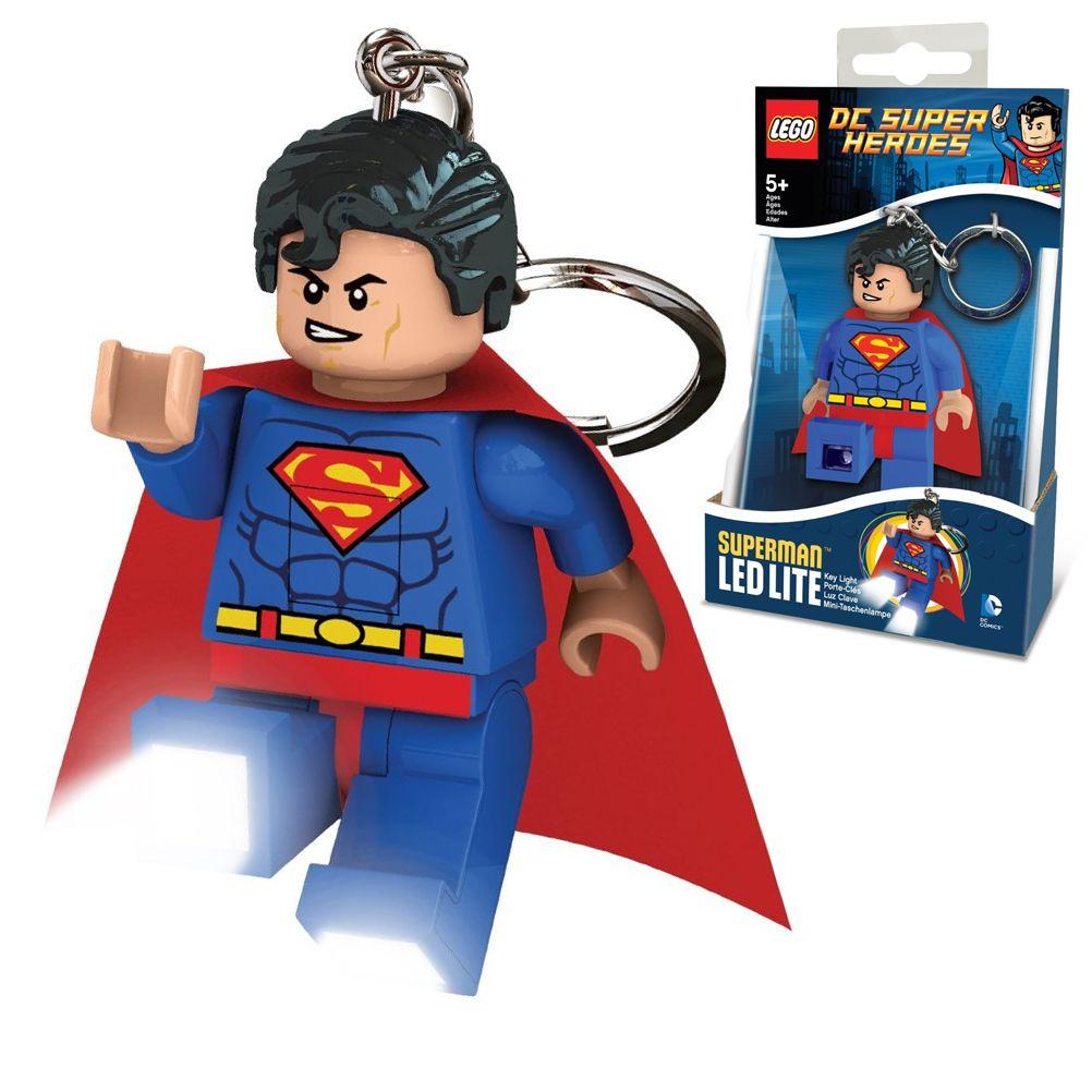porte cl s lego superman led lite dc super heroes. Black Bedroom Furniture Sets. Home Design Ideas