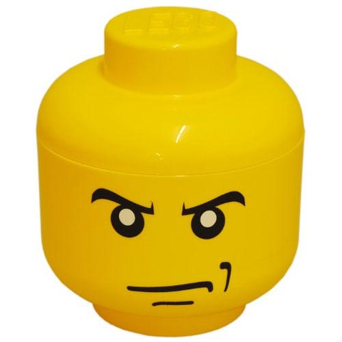 Petite boite de rangement t te de lego homme en col re - Tete de rangement lego ...