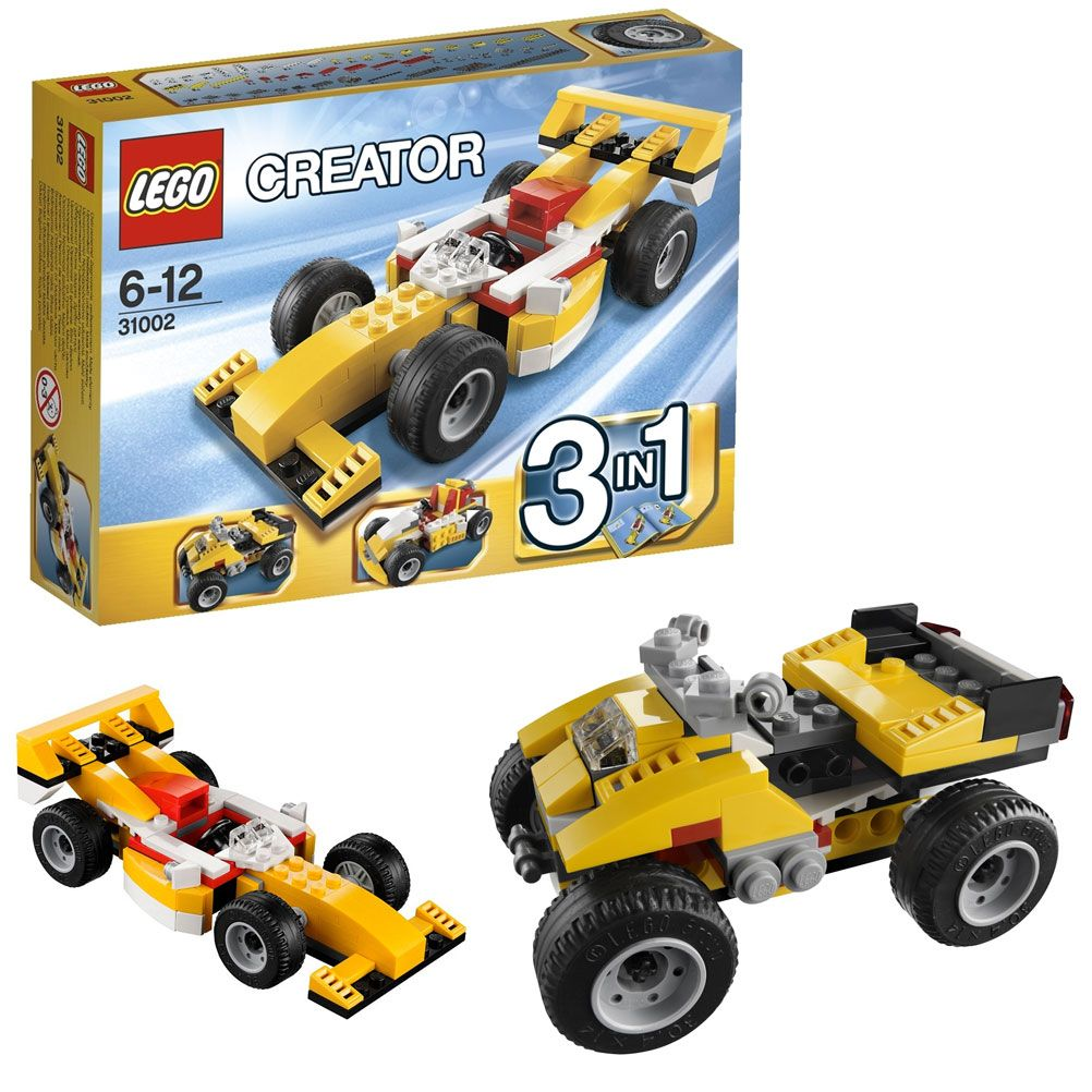 voiture de course kart et quad lego creator 3 en 1. Black Bedroom Furniture Sets. Home Design Ideas