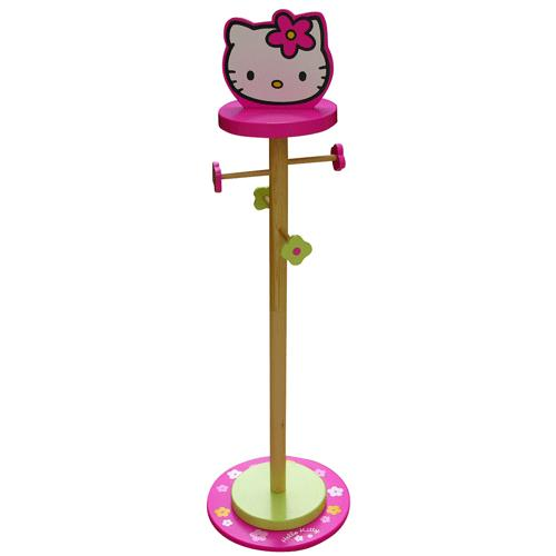 portemanteau sur pied en bois hello kitty. Black Bedroom Furniture Sets. Home Design Ideas