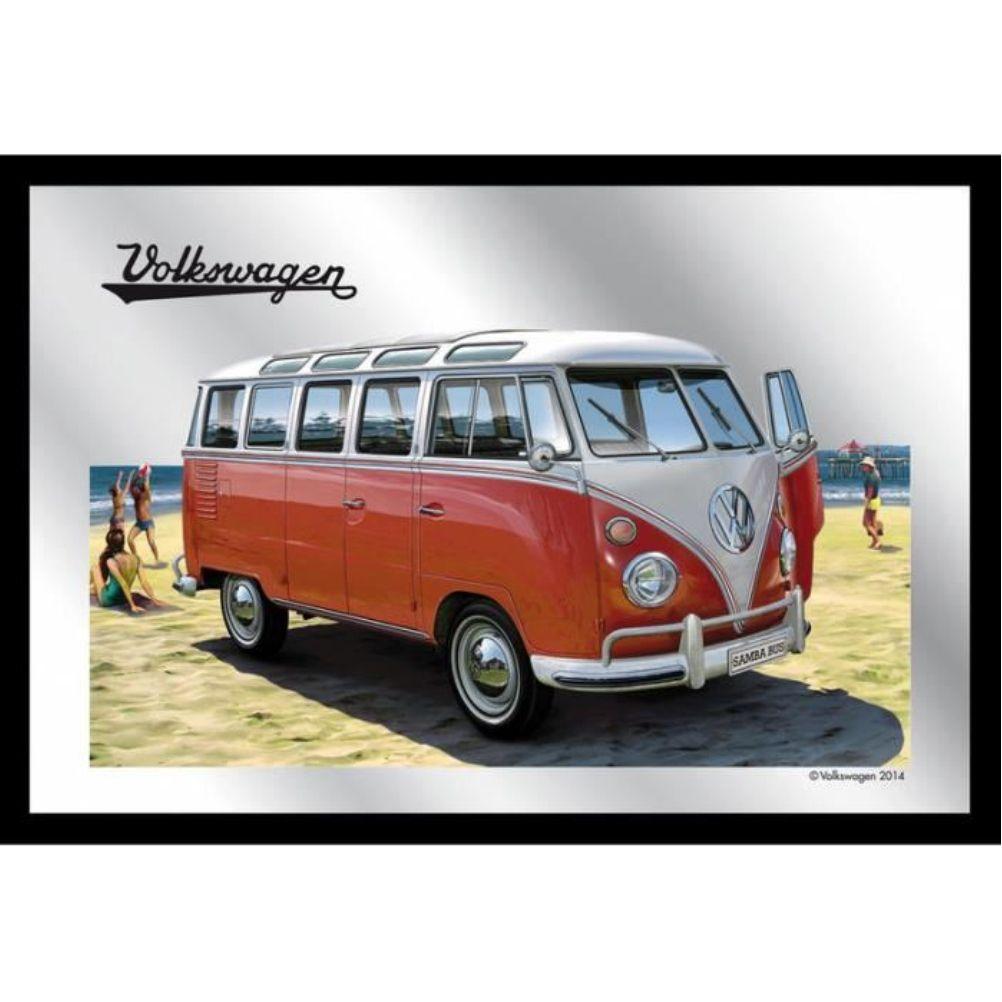 miroir d coration murale volkswagen combi bully la plage. Black Bedroom Furniture Sets. Home Design Ideas