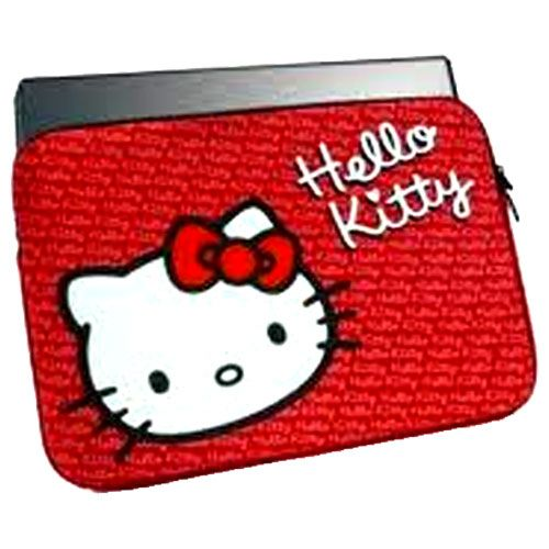 Housse ordinateur portable rouge hello kitty for Housse ordinateur portable