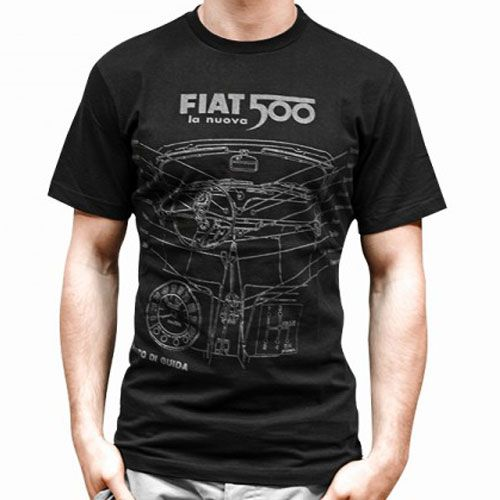 t shirt fiat 500 homme noir taille xxl. Black Bedroom Furniture Sets. Home Design Ideas