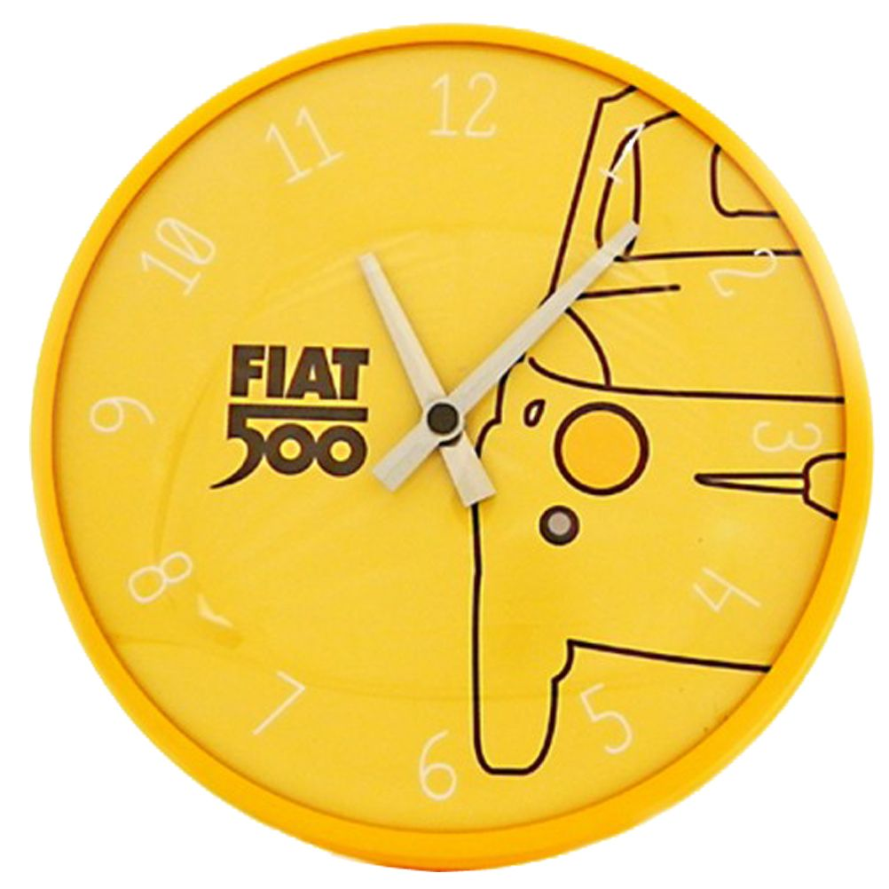 Horloge decoration pendule murale d co fiat 500 original for Decoration murale fiat 500