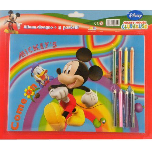 Cahier et crayons de coloriage mickey disney - Cahier de coloriage disney ...