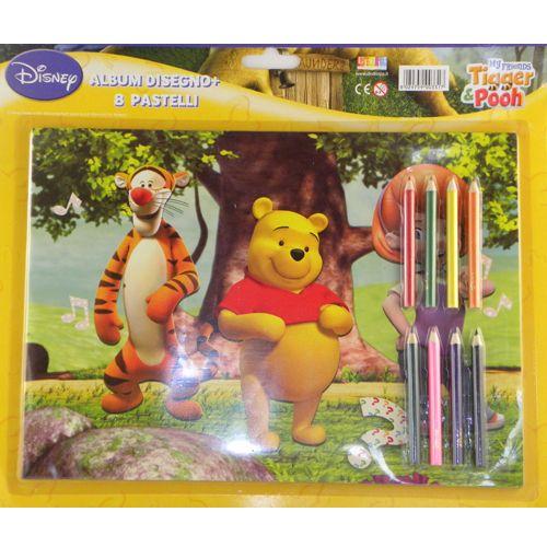 Crayons et cahier de coloriage winnie l 39 ourson disney - Cahier de coloriage disney ...
