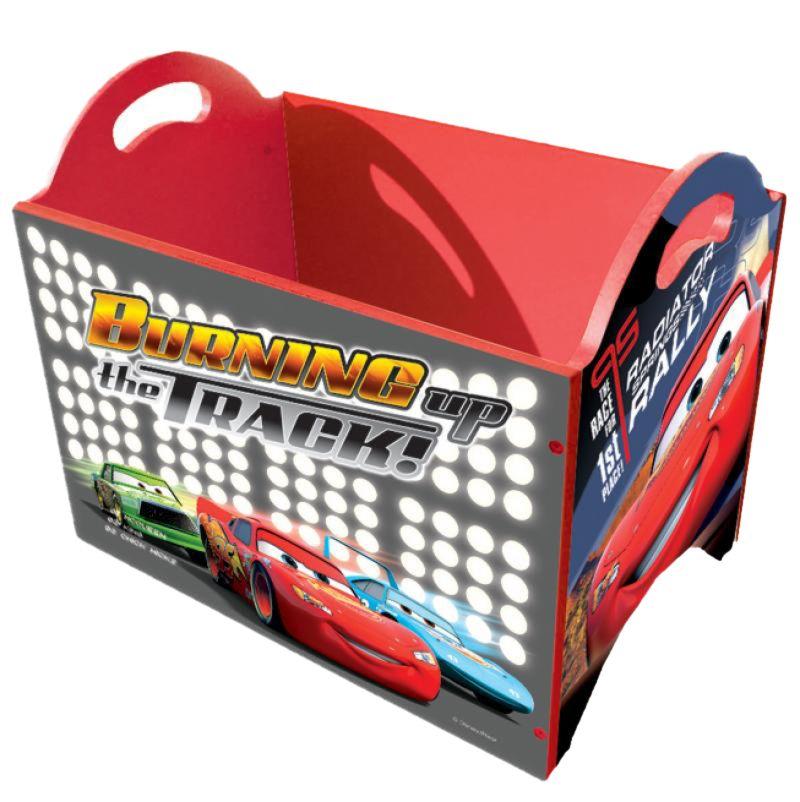 Coffre jouet rangement bois chambre enfant cars disney - Grand coffre a jouet cars ...