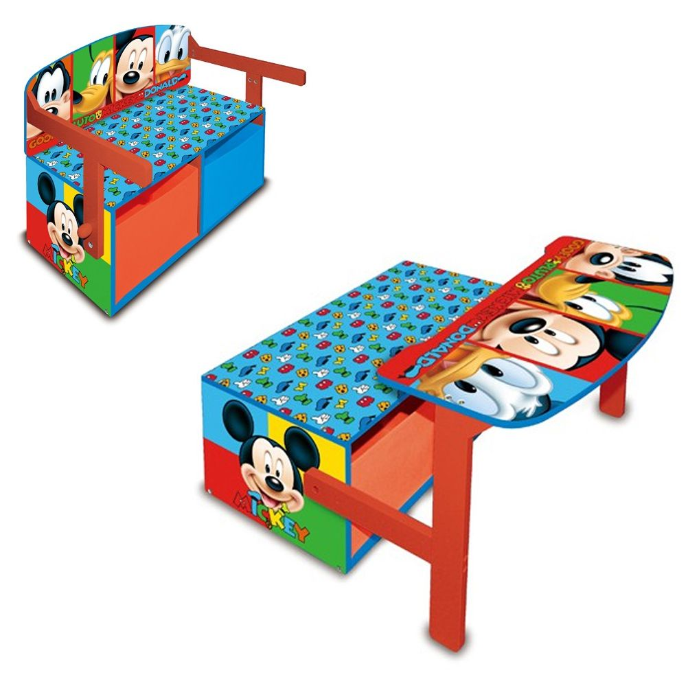 banc meuble rangement pupitre coffre disney mickey. Black Bedroom Furniture Sets. Home Design Ideas