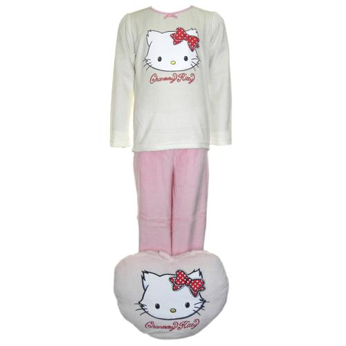 pyjama charmmy kitty et son coussin range pyjama taille 8 ans. Black Bedroom Furniture Sets. Home Design Ideas