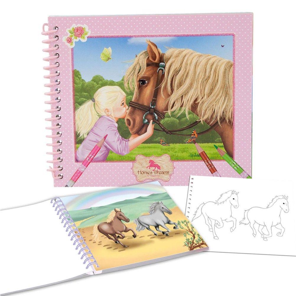 album de coloriage de poche atelier de cr ation chevaux. Black Bedroom Furniture Sets. Home Design Ideas