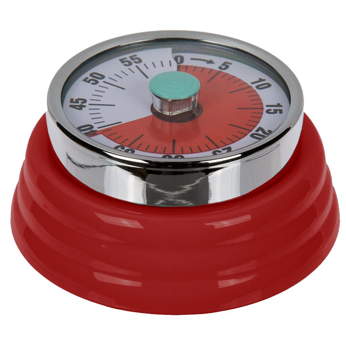 Minuteur de cuisine r tro rouge for Cuisine retro rouge