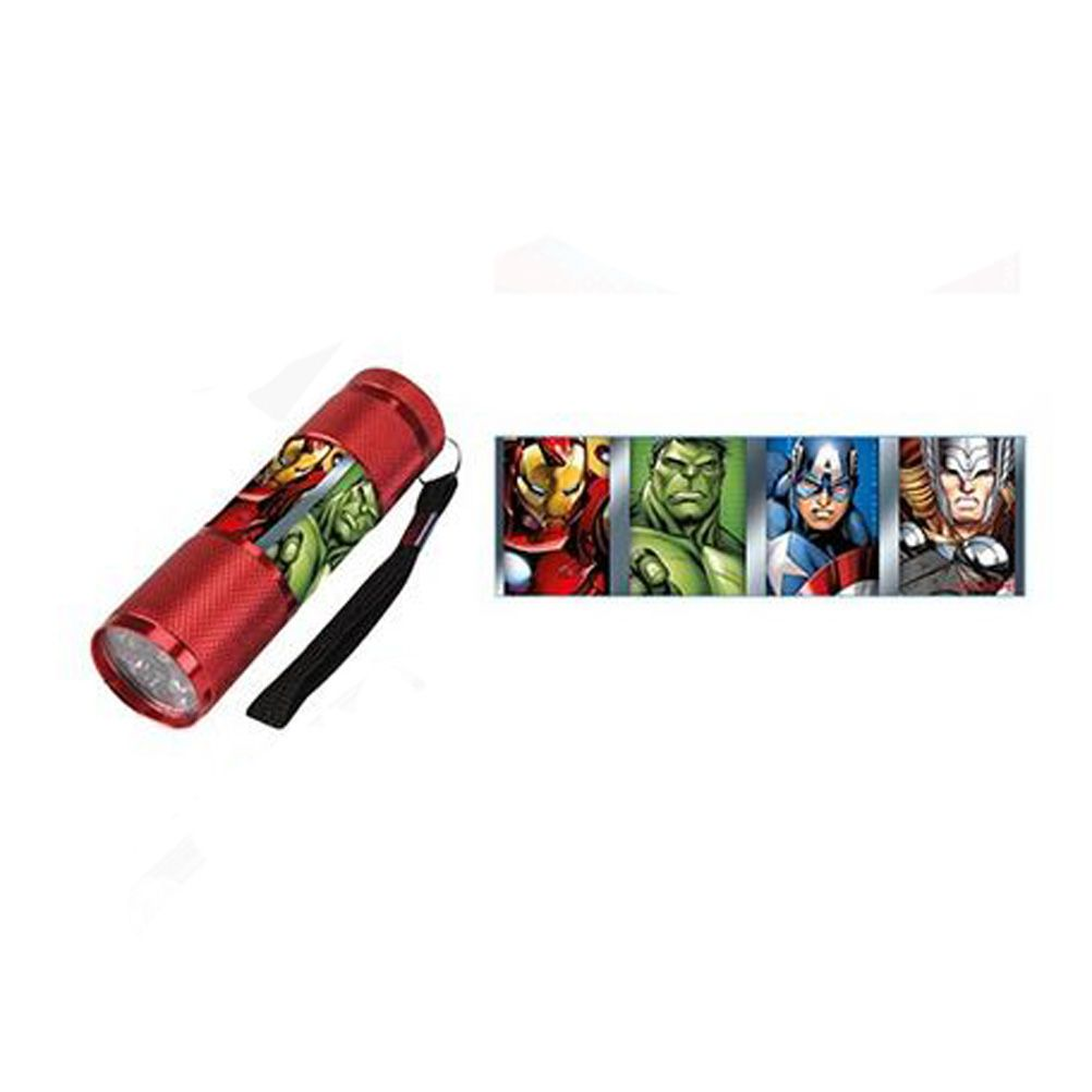 lampe torche marvel avengers led rouge. Black Bedroom Furniture Sets. Home Design Ideas