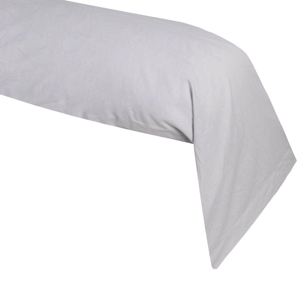 une taie de traversin gris perle alicia 45 x 185 cm. Black Bedroom Furniture Sets. Home Design Ideas