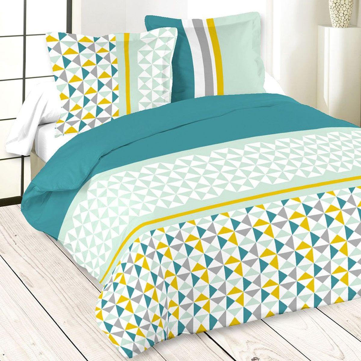 housse de couette isocle celadon et taies x cm with housse de couette yamaha. Black Bedroom Furniture Sets. Home Design Ideas