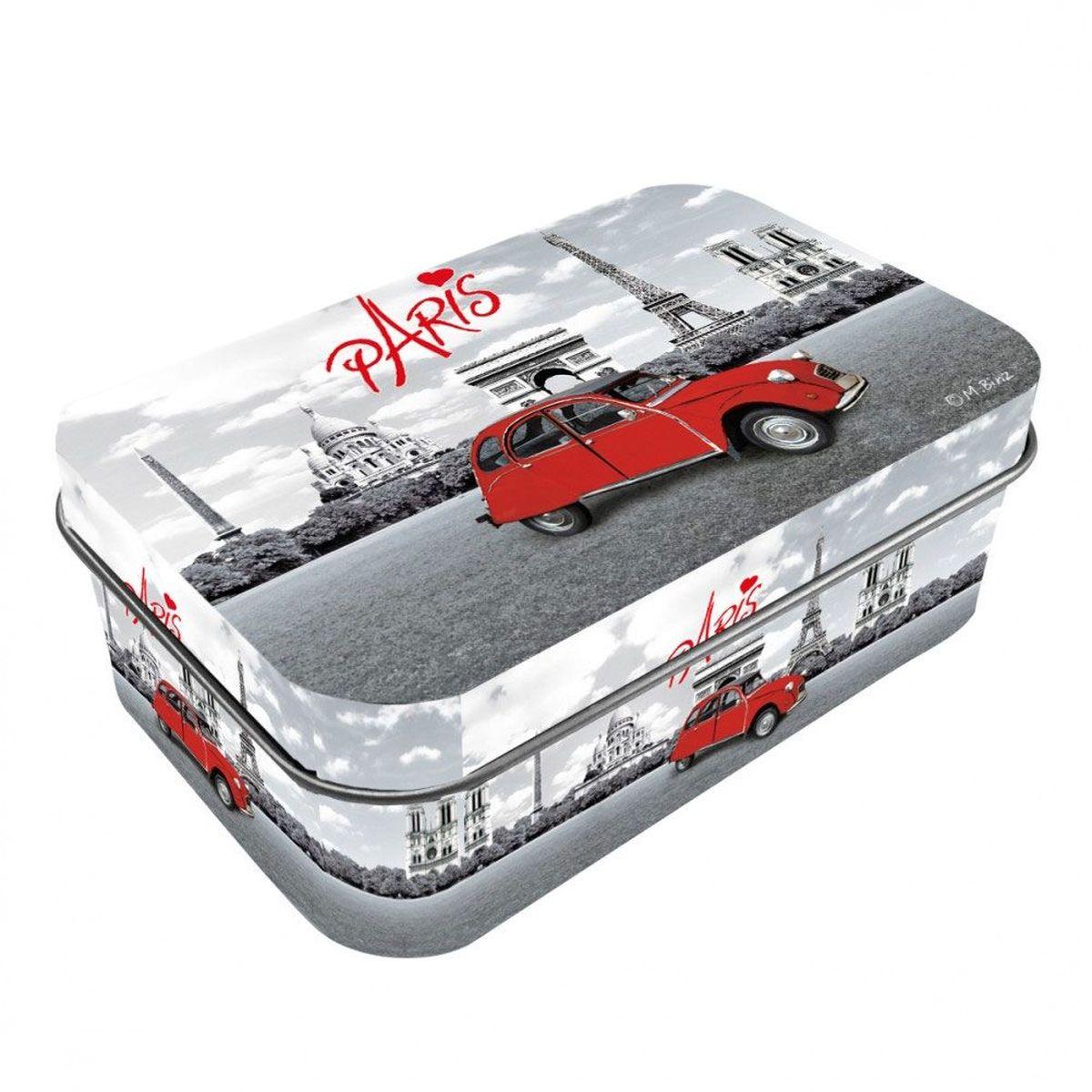 Petite boite paris en m tal avec couvercle charni re - Petite boite en metal ...