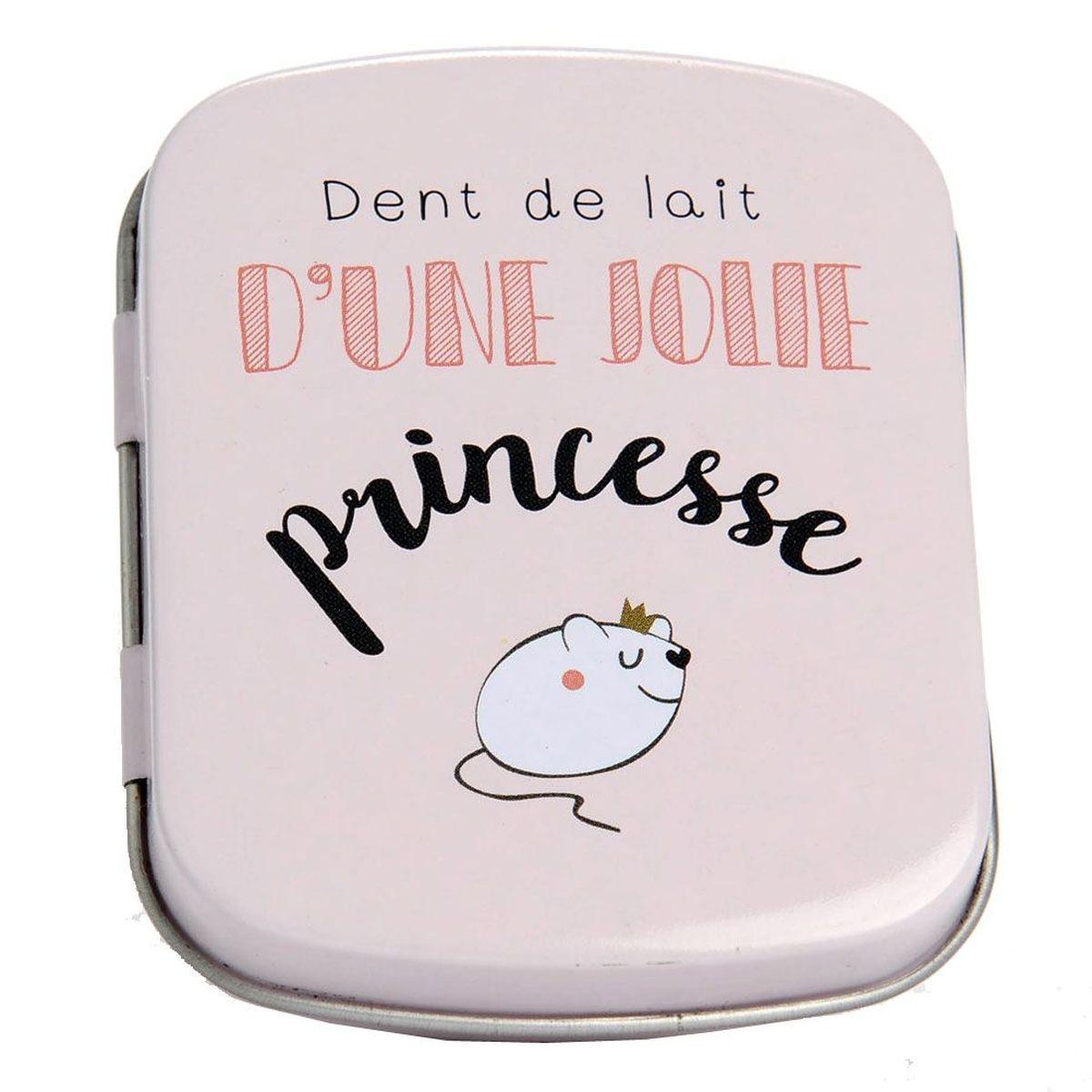 Adorable petite bo/îte /à dents pour ranger les dents de vos enfants en attendant la petite souris Amazy Bo/îte /à dents de lait avec pincette petite | rose