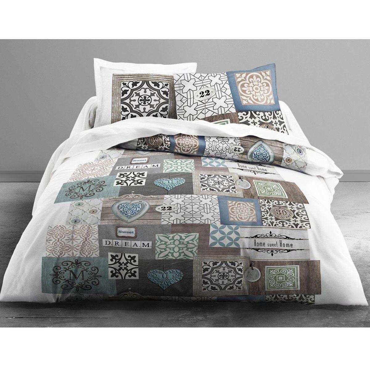 housse de couette zen sweet dreams et 2 taies 260 x 240 cm. Black Bedroom Furniture Sets. Home Design Ideas